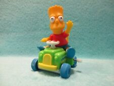 ARCO The Simpsons - Bart On Green / Blue Wind Up Car - Buggy Figure Plastic Toy