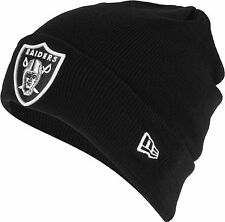 NEW ERA NFL OAKLAND RAIDERS STRICK-MÜTZE BEANIE AMERICAN FOOTBALL SCHWARZ TOP!!!