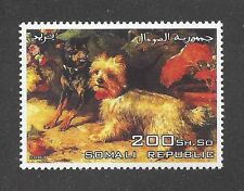 Dog Art Portrait Postage Stamp YORKSHIRE TOY MANCHESTER TERRIER Somalia 2003 MNH