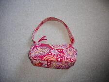 Womens Purse-VERA BRADLEY-pink/yellow/white paisley floral zipper closure small