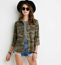 Camouflage Jacket Women Coats Spring Street Fashion Army Green Military Outwear