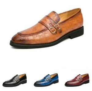 Mens Business Leisure Shoes 4 Color Pointy Toe Oxfords Slip on Nightclub Casual