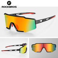 ROCKBRS Cycling Glasses Photochromic Polarized Full Lens One Piece Frame Glasses