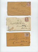 Group of 3 #65 covers Maine inc interesting letterhead [y5003]