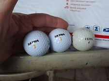 Wilson Ultra Golf Balls 2 Logo Mtchell Dentistry 3's & 1 Wildon 4 - 90