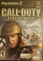 Call of Duty: Finest Hour (Sony PlayStation 2, 2004) No Manual Included PS2