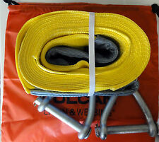 CRK008 Vulcan Super Duty Tow Strap Kit 30 FT Heavy 15,000 LBS Capacity + Bag