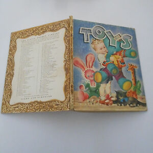 vintage old TOYS #22 scroll back little golden book EDITH OSSWALD MASHA 1945