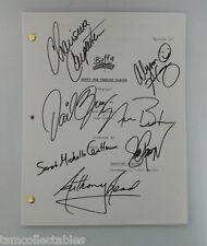 BUFFY THE VAMPIRE SLAYER cast signed script Sarah Michelle GELLAR HANNIGAN