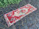 Vintage from 1950s, %100 wool handmade Turkish vintage rug   1,5 x 4,0 ft