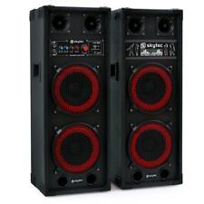 (B-WARE) AKTIV 2x20CM SUBWOOFER LAUTSPRECHER PAAR DJ PA BOXEN SOUND SYSTEM USB