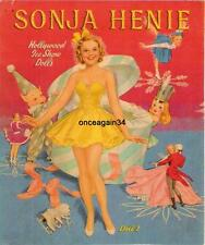Vintage Uncut 1941 Sonja Henie Paper Dolls~Beautiful~#1 Reproduction~Top Seller!