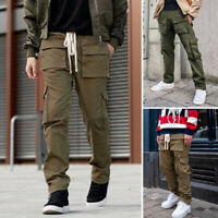 Mens Fashion Casual Harem Baggy Pants Streetwear Hip Hop Pockets Cargo Pants