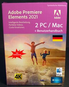 Adobe Premiere Elements 2021 Vollversion 2 Win/Mac + Benutzhandbuch Download NEU