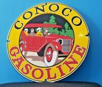 VINTAGE CONOCO GASOLINE PORCELAIN 1926 FORD AUTO CAR SERVICE STATION SIGN