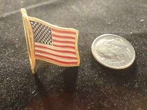 LAPEL PIN AMERICAN FLAG- PATRIOTIC -SHOW YOUR COLORS-GREAT GIFT
