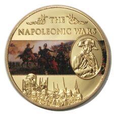 St. Helena Napoleonic Wars Battle of Borodino 25 Pence 2013 Gold-plated Colored