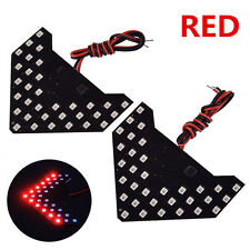 Red 33-SMD Sequential LED 2 PCS Super Arrows for Car Side Mirror Turn Signal Lig