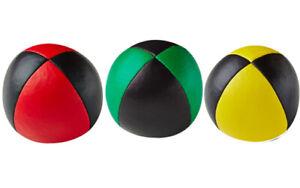 3X Henrys Jonglierball Bean Bag Premium Glattleder 67mm ROT GELB GRÜN-SCHWARZ