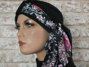Jersey Hat Head wear  Turban and scarf for hair loss, Cancer, Chemo, Leukemia