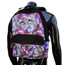 vans Purple Digi Roses unisex womens backpack School bag