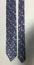 Brioni Blue Silk Multicolor Paisley Floral Print Neck Tie