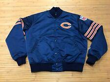 MEDIUM - Vtg 80s NFL Chicago Bears Starter Sewn Quilted Snap Jacket USA