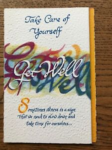 Blue Mountain card Emotional sentimental Get Well take care of yourself  (L246)