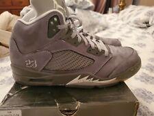 Men's Nike Air Jordan 5 V Retro Wolf Grey White 2011 Size 12
