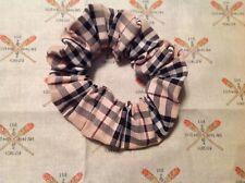 Handmade Hair Scrunchies Burberry Fabric lot of 2