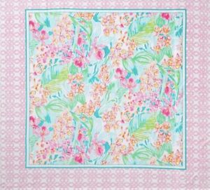 "Brand New Lilly Pulitzer Via Flora Beautiful Beach Towel for Two 64"" Square"