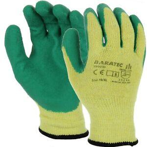 120 Pairs Baratec Latex Rubber Builders Grip Work Waterproof Gloves Boxed (9900)