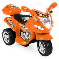 BCP 6V Kids 3-Wheel Motorcycle Ride On Toy w/ LED Lights, Music, Storage