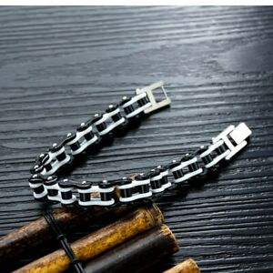 """Stainless Steel 8.5"""" Motorcycle Chain Biker Bracelet Multi-Color Combinations"""
