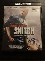Snitch (4K Ultra HD/ Blu-ray/ no Digital HD) No slipcover