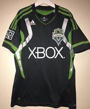Seattle Sounders Adidas Youth Jersey Medium Boys, XBOX MLS CHAMPIONS RARE SHIRT