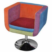 Lappendeken kubus stoel met voet hoogte verstelbaar veelkleurig hout lappen