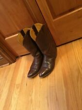 Womens Nocona Vintage cowboy Western Boots Size 9 Brown Made in USA