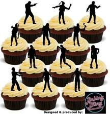 Novelty Halloween Zombie Silhouettes Mix Edible Cake Toppers Decorations Zombies