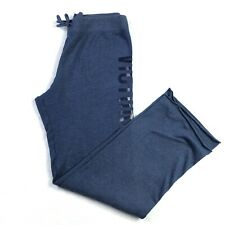 Victorias Secret Sport Womens Sweatpants Size S Blue Loose Fit Logo Drawstring