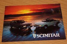 Reliant Scimitar GTE GTC Sales Brochure