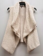 BB DAKOTA Size 2X Beige Cream Cozy Plush Front Sweater Vest