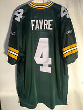 Reebok Authentic NFL Jersey Green Bay Packers Brett Favre Green Sz 50 beb900943