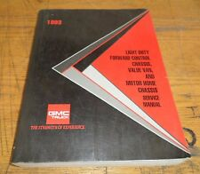 1993 Gmc Truck Light Duty Forward Control Chassis Service Manual Supplement