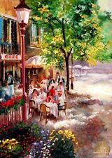Summer Sidewalk Cafe Cappuccino Lunch Ltd Edition ACEO Print Art Yary Dluhos .