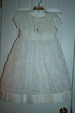 Hanna Andersson White Rosette Dress Size 110 (4-6yrs)