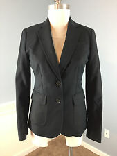 BANANA REPUBLIC black blazer jacket career cocktail Excellent Xs 2 stretch