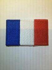 Patch toppa ricamata Bandiera FRANCIA FRENCH Termo-adesivo Backpack zaino 6x3,5