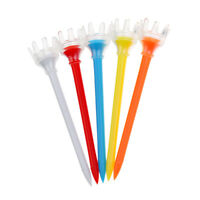 5 Pieces Durable Plastic Crown Golf Tees Golfer Training Tool Random Color