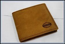 New HOT Men's Brown FOSSIL GENUINE LEATHER WALLET  Bifold Purse For Gift